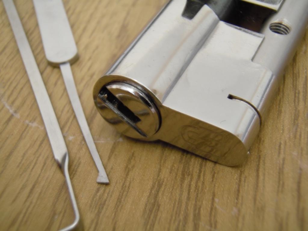 upvc locks opened