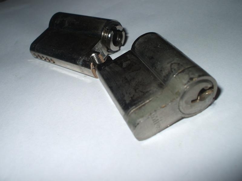 Broken upvc door lock