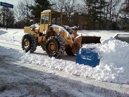 Phil's Excavating box snow plow