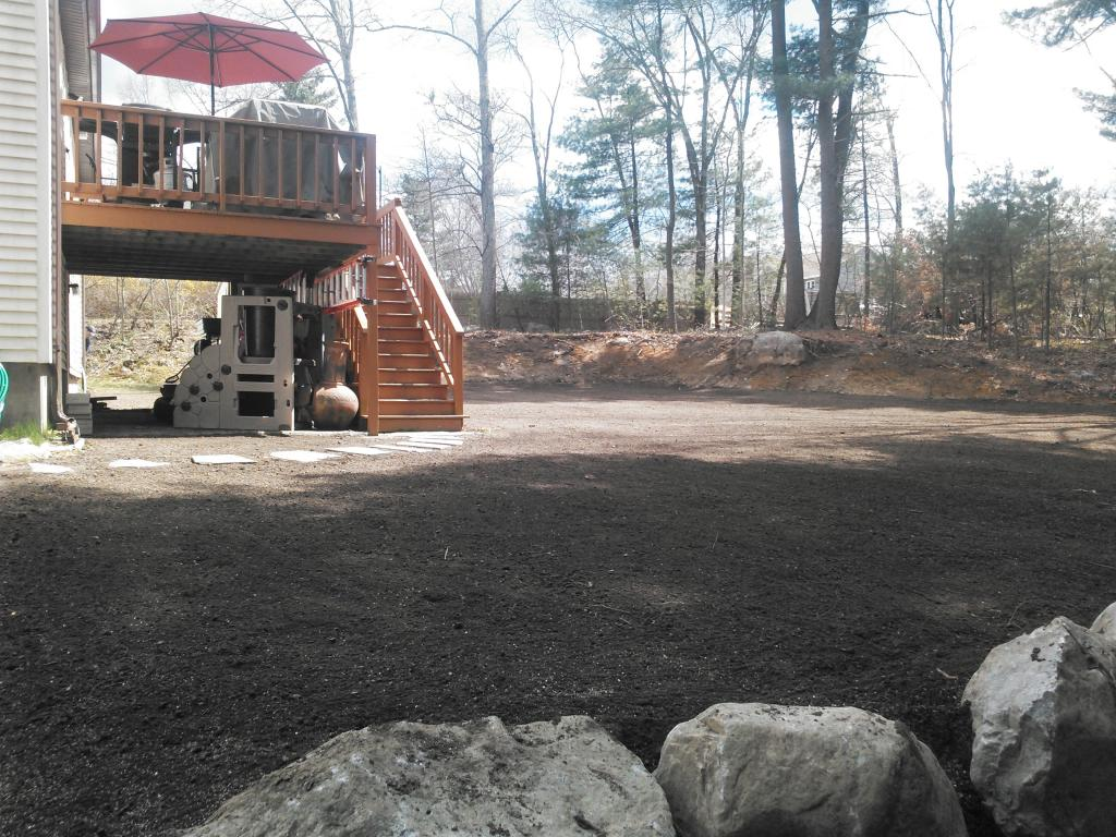 land graded and yard improved