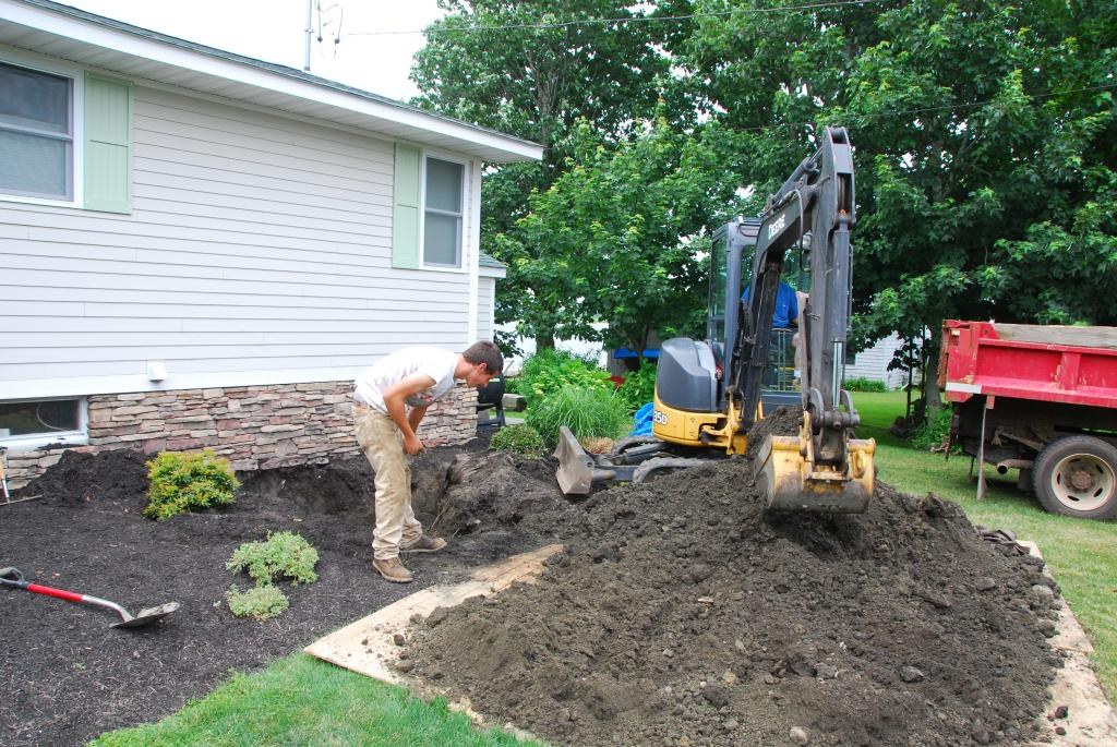 water line being replaced by Phil's Excavating