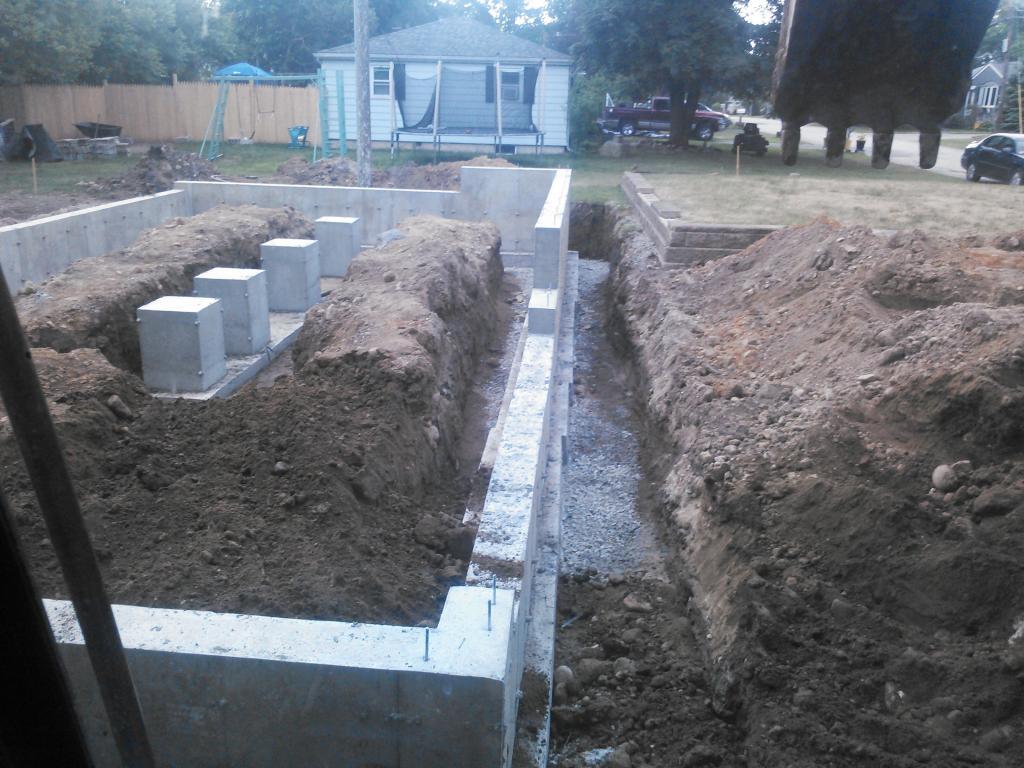 excavation for garage foundation