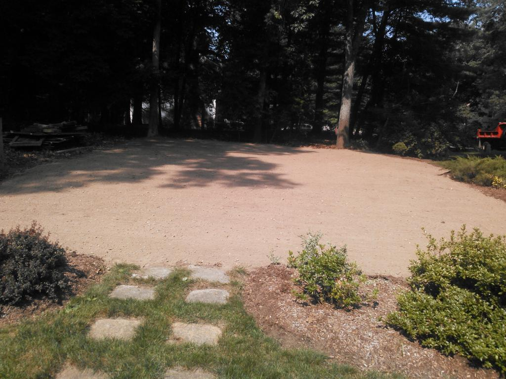 land graded after pool removed