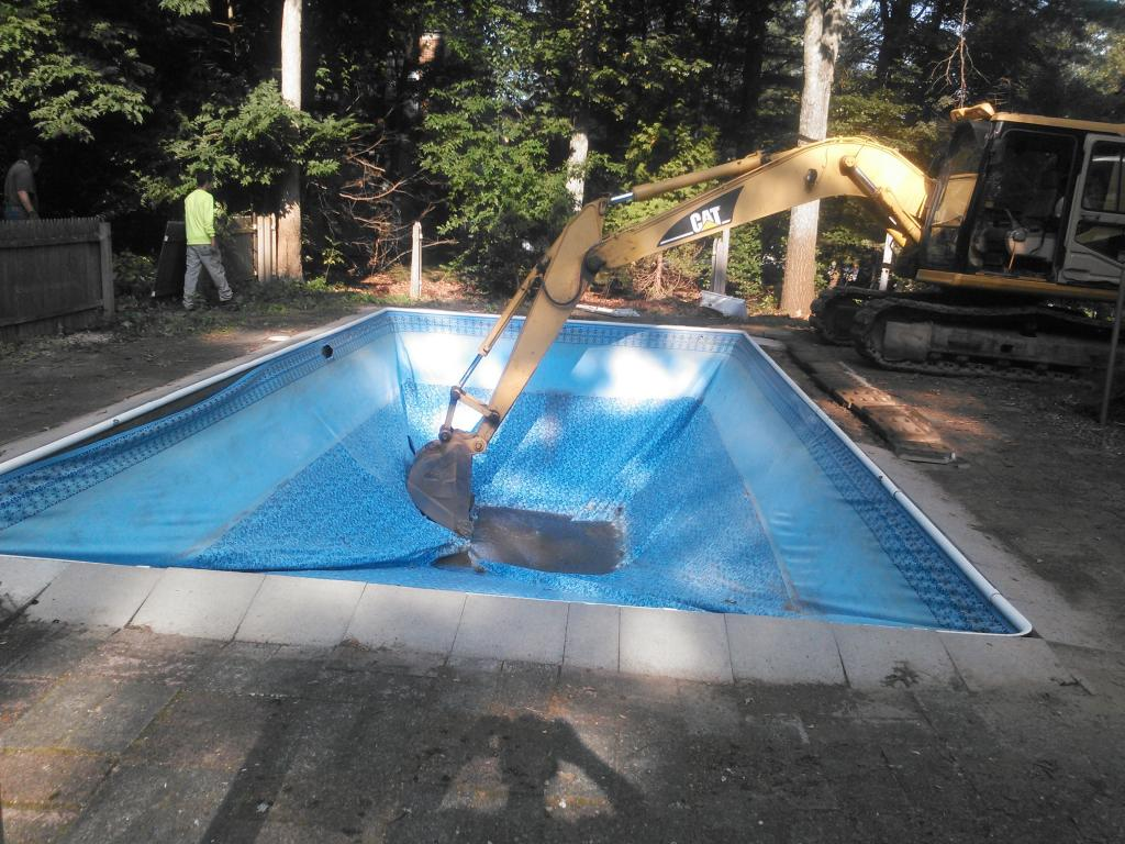 swimming pool to be removed