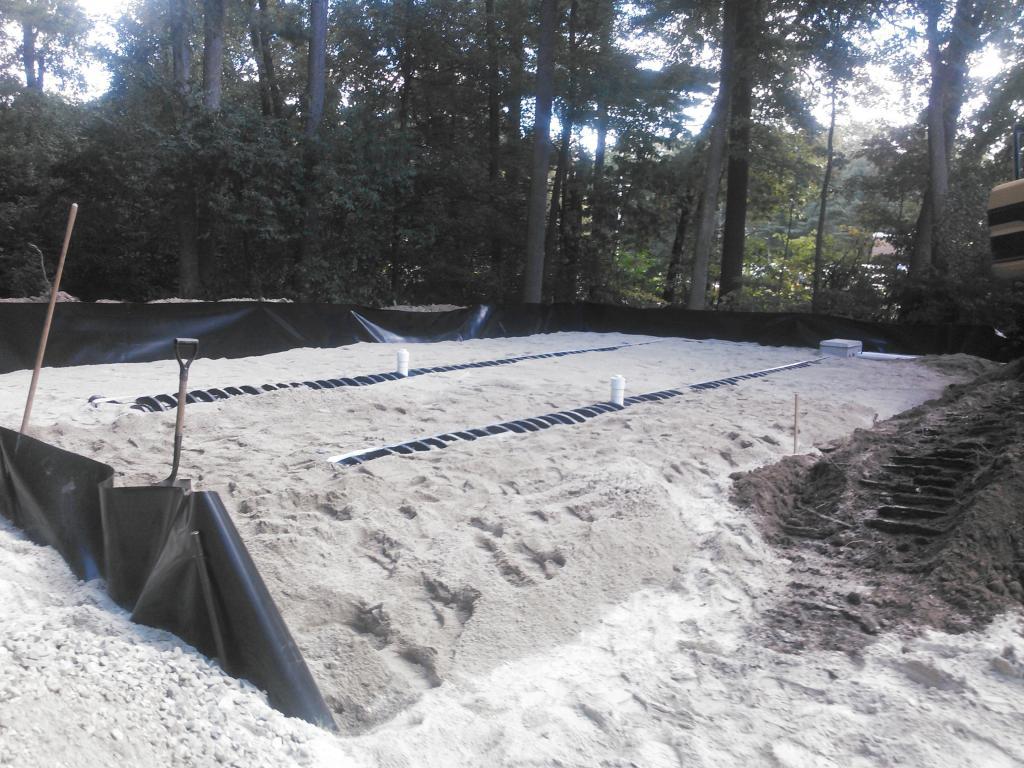 newly installed leachfield