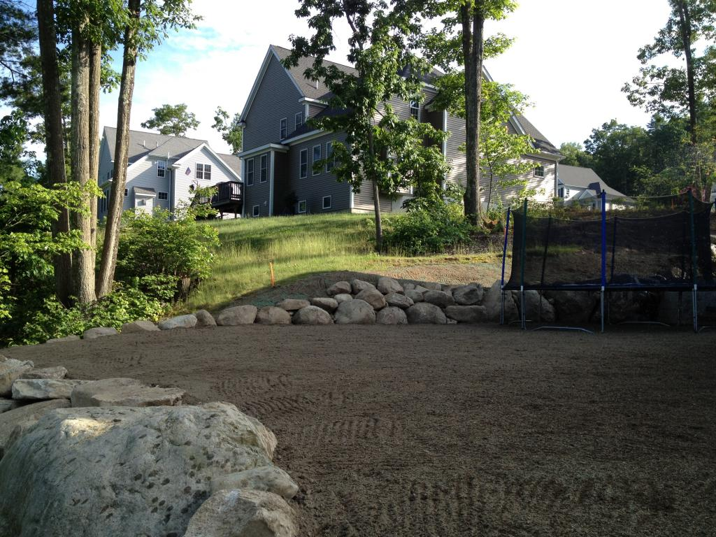 land grading by Phil's Excavating