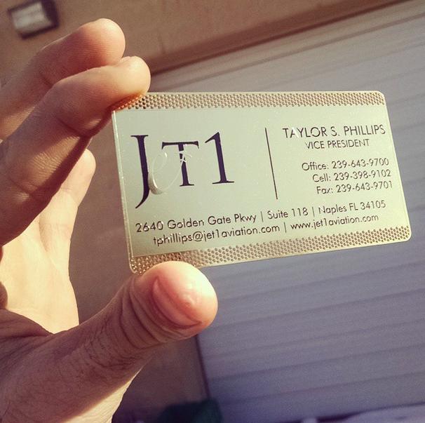 Luxury Jet Company Business Cards