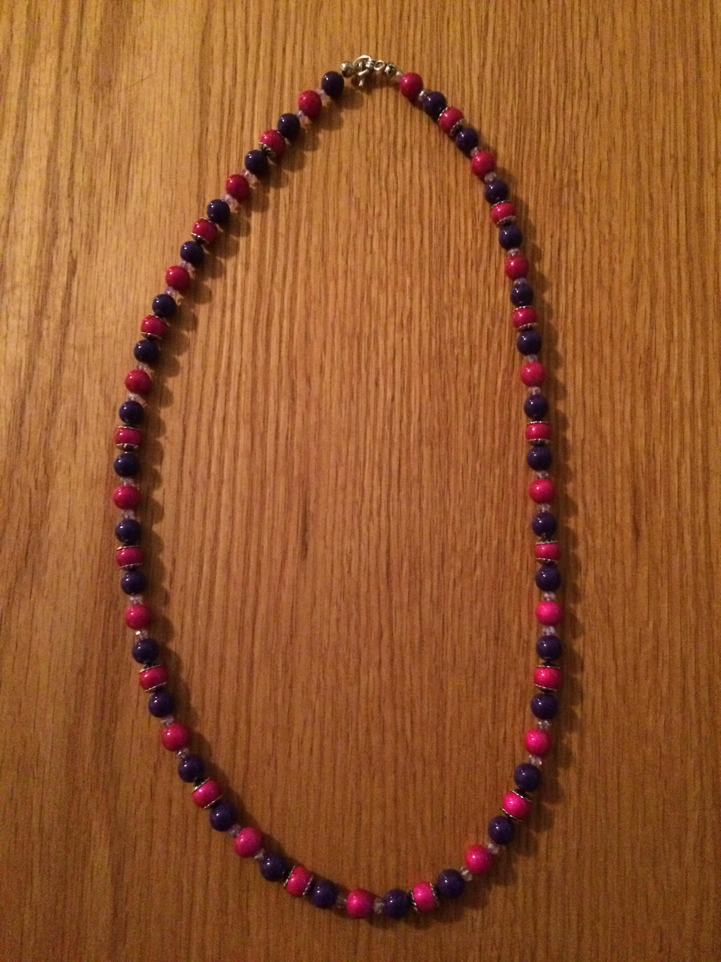 Pink & Purple 25 1/2 in Necklace