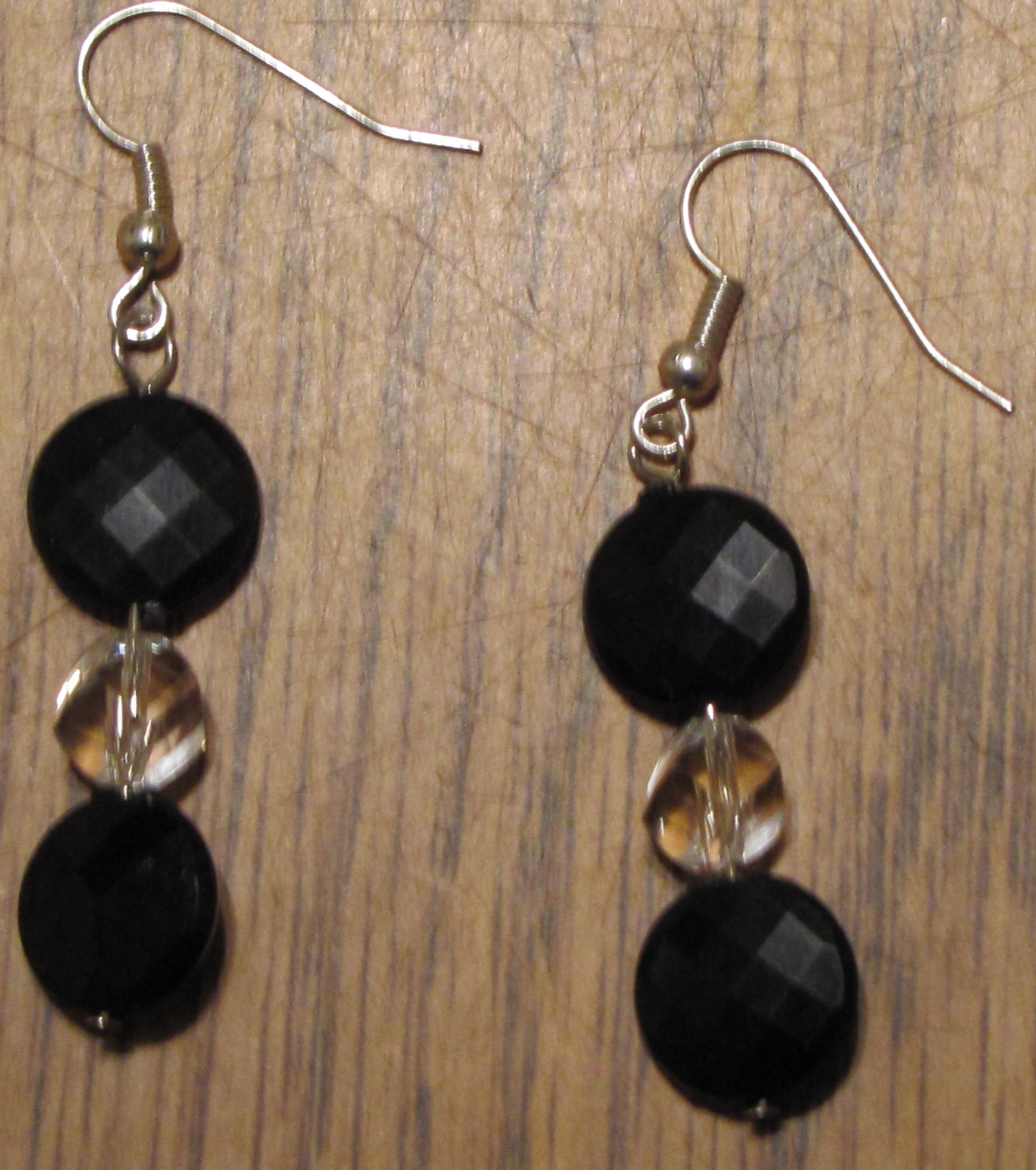 Black, Crystal earrings