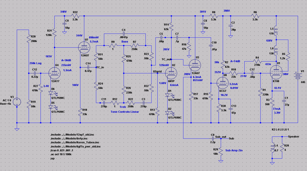 Mini-console Schematic