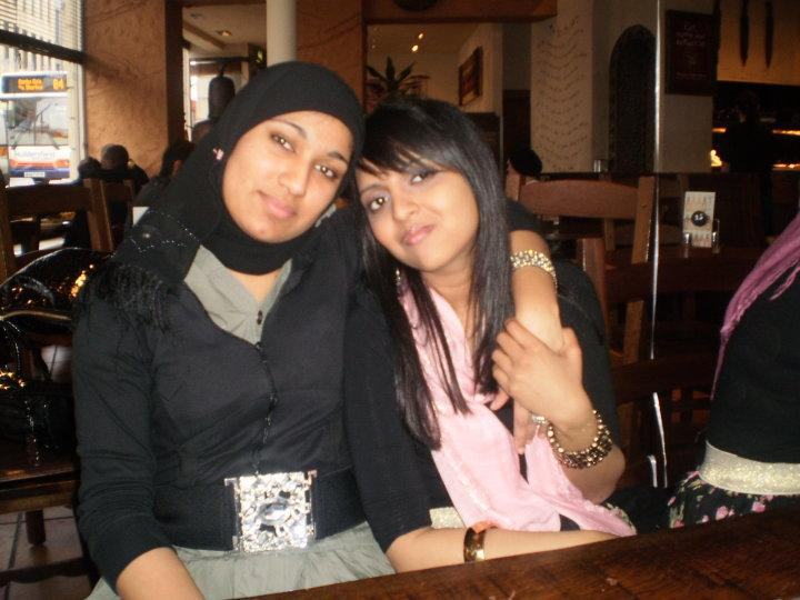 Huma Ghaffar and friend