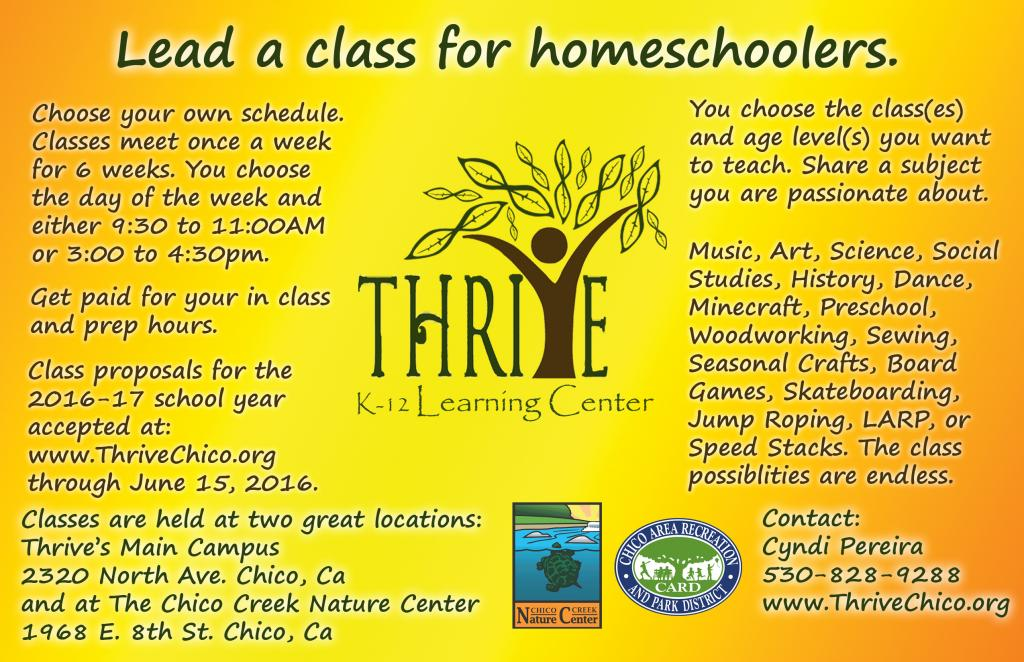 Lead a class for homeschoolers.