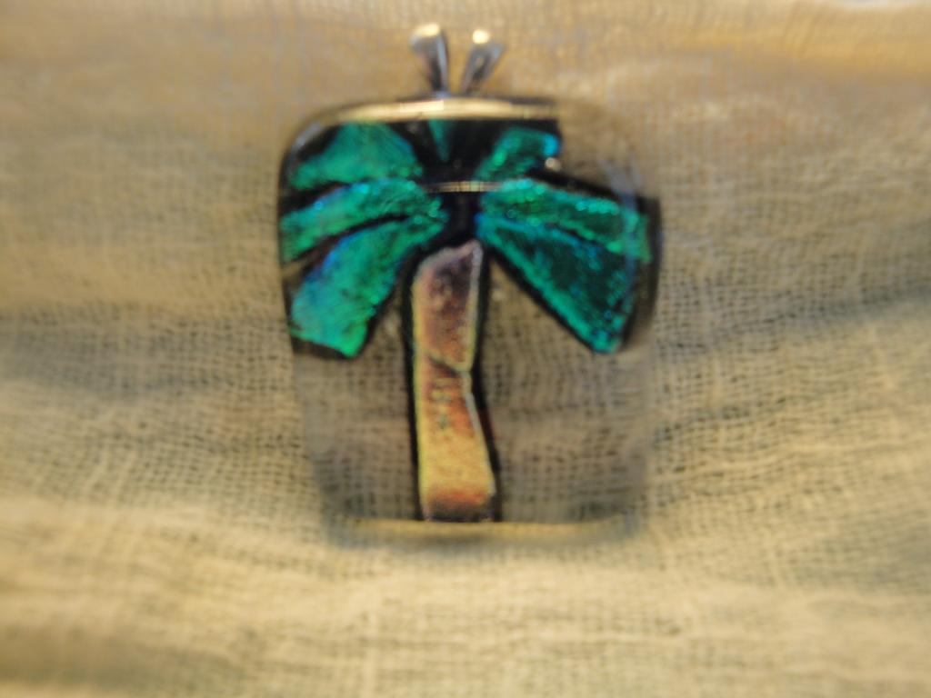 Fused Glass Palm Tree