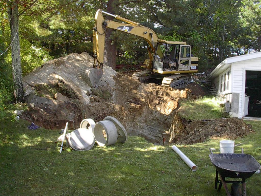 Phil's Excavating installs a drain