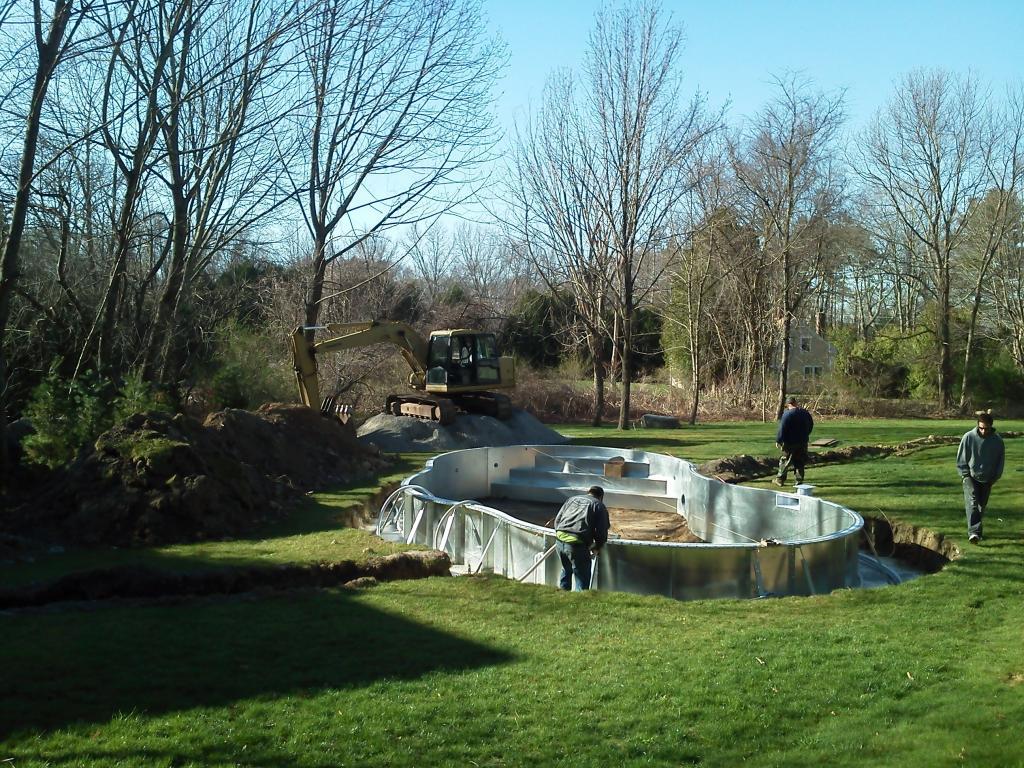 swimming pool excavation by Phil's Excavating