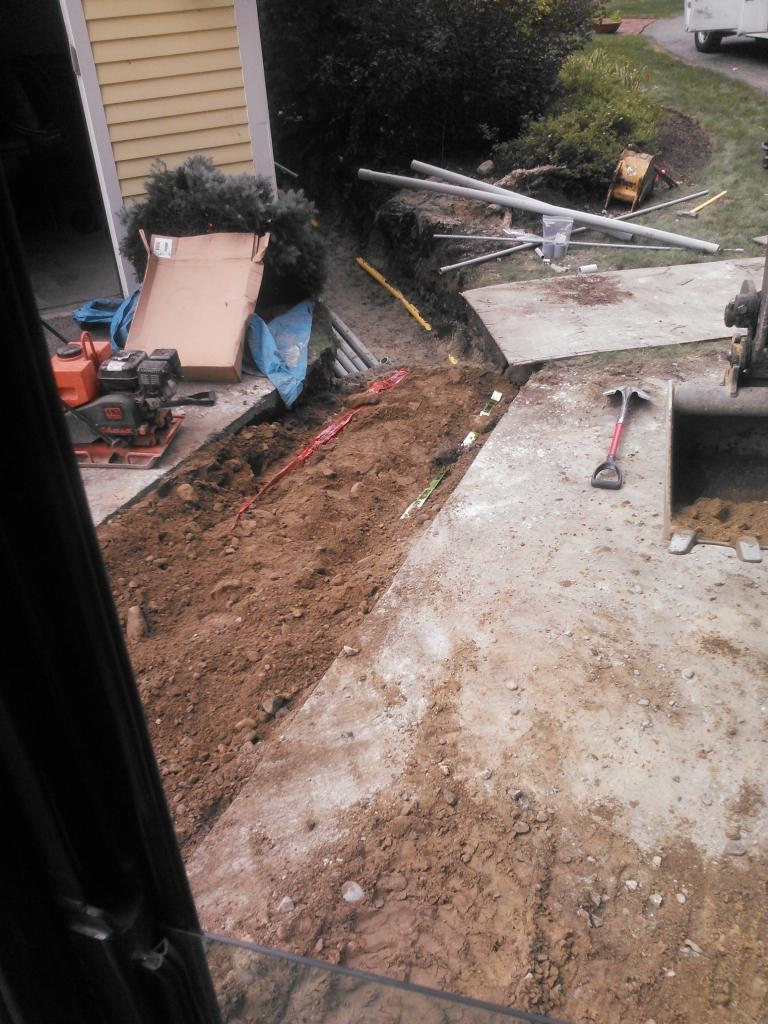 Phil's Excavating electric line trench Cumberland RI