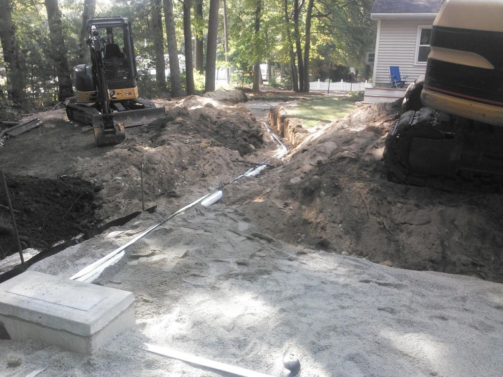 distribution box for new septic system