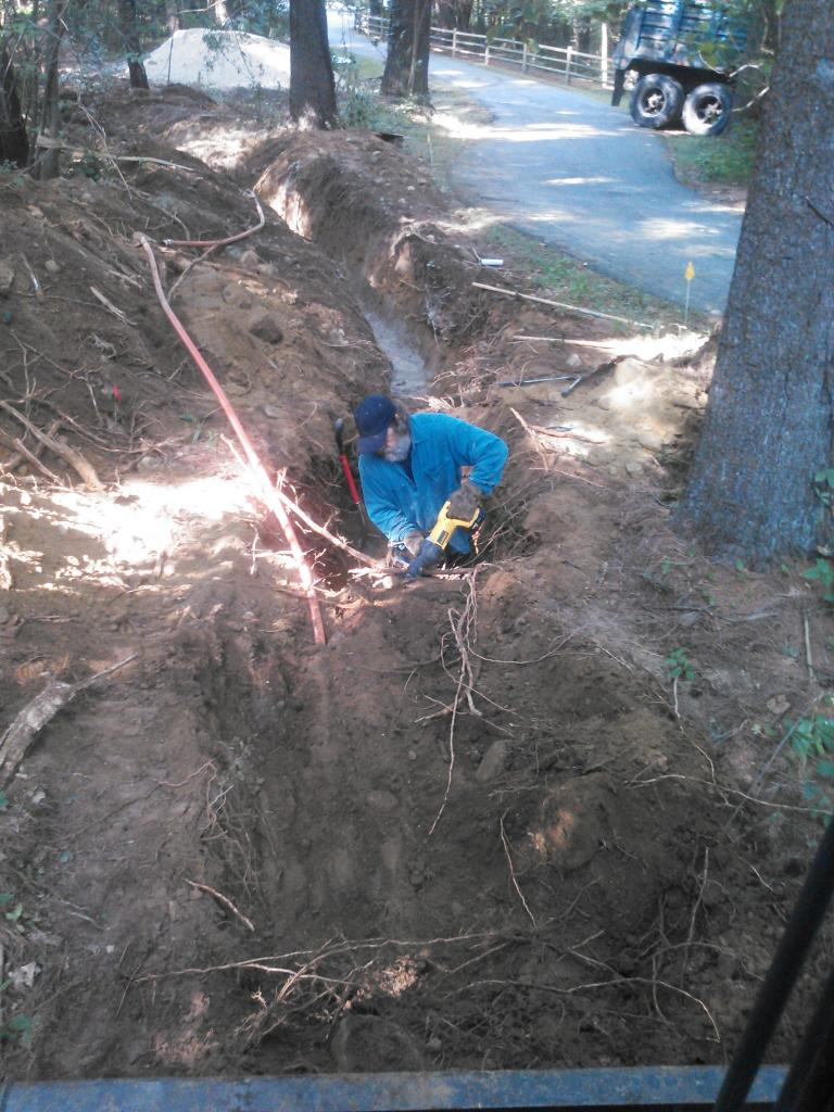 trench for electric line