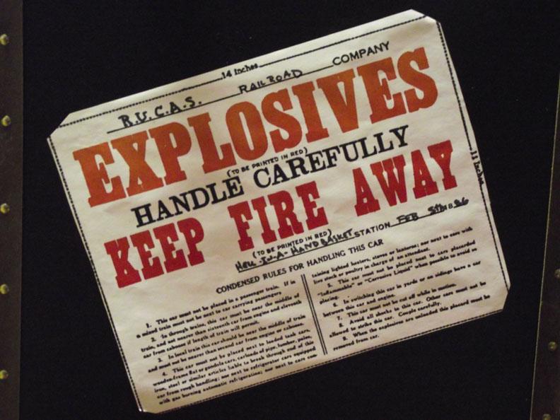 Explosives!