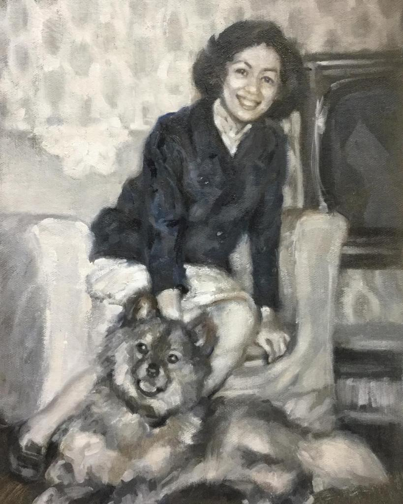 Mom and Lucky by Gloria Chow