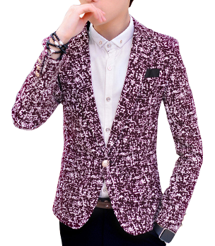Ancient Mosaic Grid Burgundy Fashion Blazer